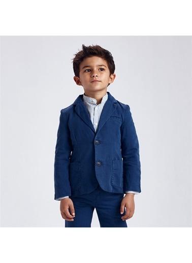 Mayoral Mayoral Erkek Çocuk Keten Blazer Ceket Mavi